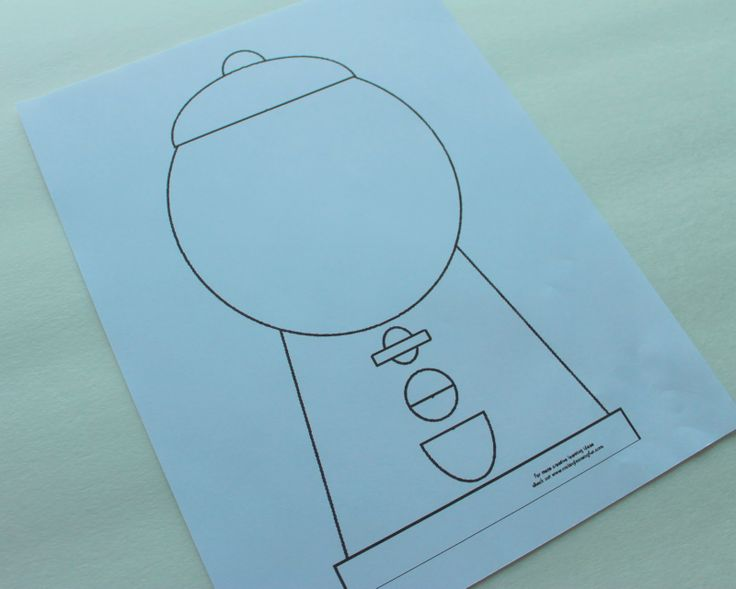 Gumball Machine Template... use sticker dots or bingo dot markers to add gum balls