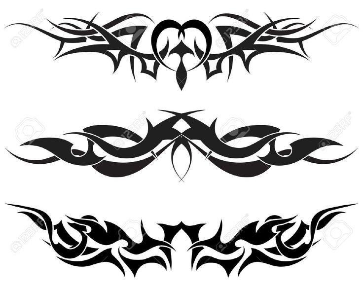 5250388-Modelli-di-tatuaggio-tribale-per-usare-il-disegno-Archivio-Fotografico.jpg (1300×1039)