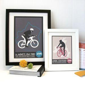 Bicycle Race Personalised Print