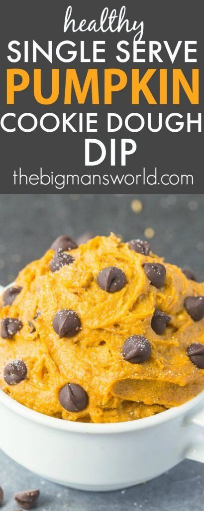 Healthy SINGLE SERVE Pumpkin Cookie Dough for ONE- Thick, creamy and LOADED with pumpkin flavor, this has NO butter, oil, sugar or grains, seriously addictive! {vegan, gluten free, paleo recipe}- thebigmansworld.com