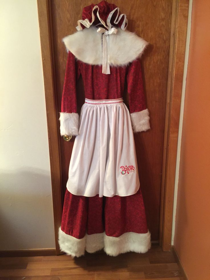Mrs Clause Boots Costume