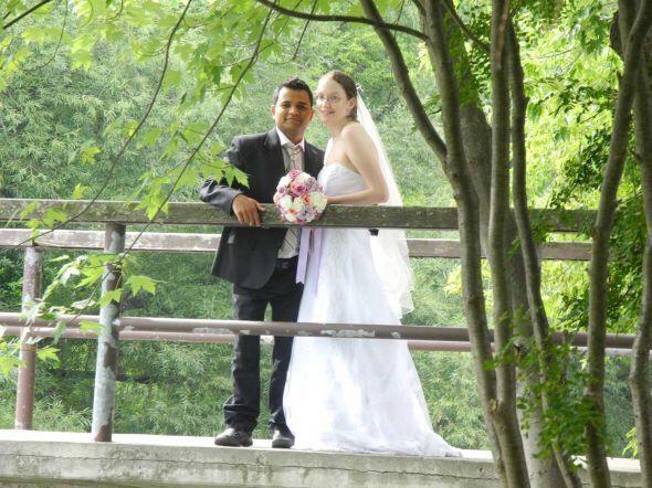 Tall bride
