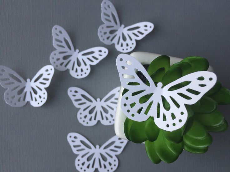 25 ct White Monarch Butterlies / White butterfly confetti/ white paper punched butterfly/ white butterfly gift tags by PomPomDelightNmore on Etsy https://www.etsy.com/listing/212182168/25-ct-white-monarch-butterlies-white
