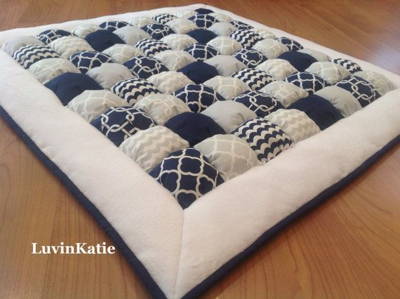 Baby Floor Time Bubble Quilt Bubble Blanket Puff by LuvinKatie