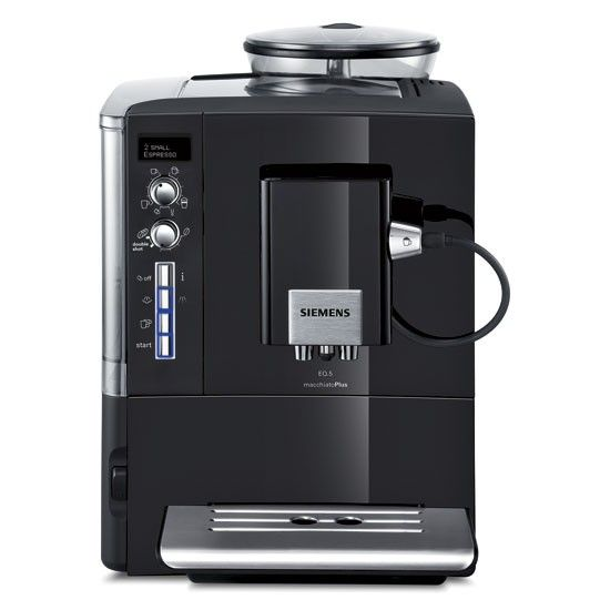 Siemens - EQ.5 macchiatoPlus. Very business-like, yes? Efficient, yes? German ... of course. Multi-cup making bliss for dinner party hosts.