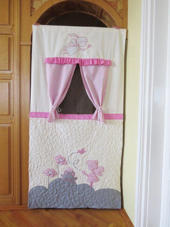 Doorway Puppet Theatre by Customquiltsbyeva on Etsy, $99.00