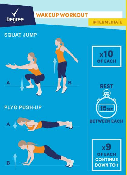 Pledge to get moving - wake up energized with these workouts from Degree and Walmart