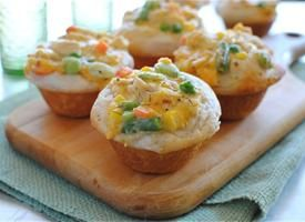 Chicken Pot Pie Cupcakes - making this ASAP!!!