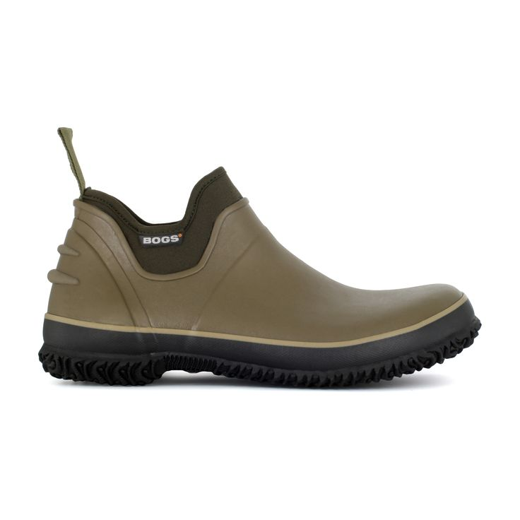 The Urban Farmer by Bogs Footwear. To help our urban friends bring the great outdoors to the concrete jungle, we�ve engineered the Urban Farmer � the perfect lightweight utility boot for any outdoor activity, whether it�s wiring a chicken coop, doing yard work around the house or simply hoofing it to the hardware store. This low-profile slip-on keeps the dirt out without getting too hot thanks to our Bogs Max-Wick moisture-wicking lining. An internal rigid steel shank shields against shovels…