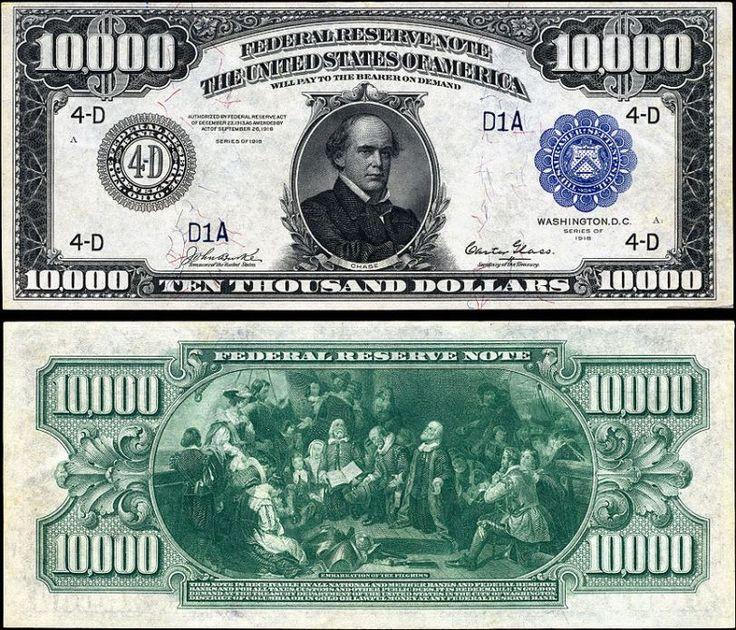 z- $10,000. USD (Chase), 1918