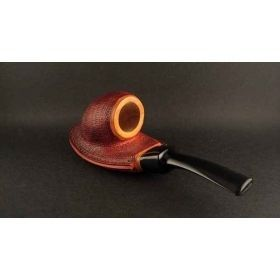 Alexa Pipes AP 16-24 Olive wood ramses pipe with leather-like finish