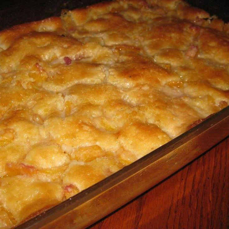 """Lazy Man's"" Pie- Peach Cobbler"