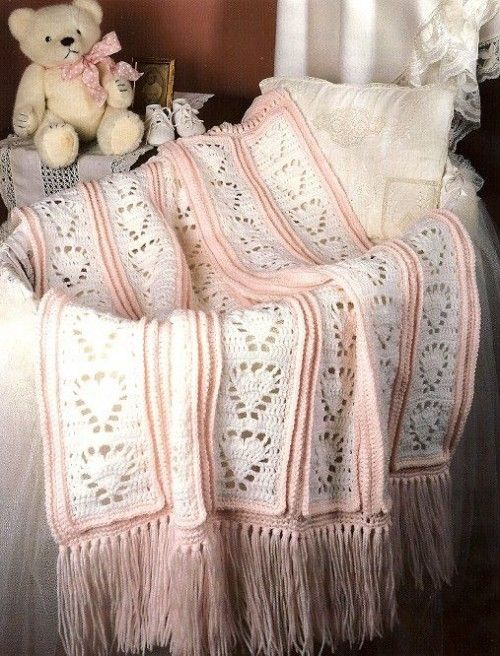 W990 Crochet PATTERN ONLY Soft Hearts for Baby Blanket Afghan Pattern | BeadedBundles - Craft Supplies on ArtFire