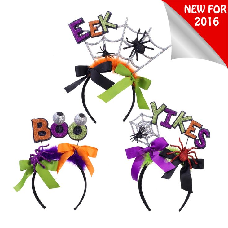 raz 105 boo eek or yikes halloween headband h3520079 - Raz Halloween Decorations