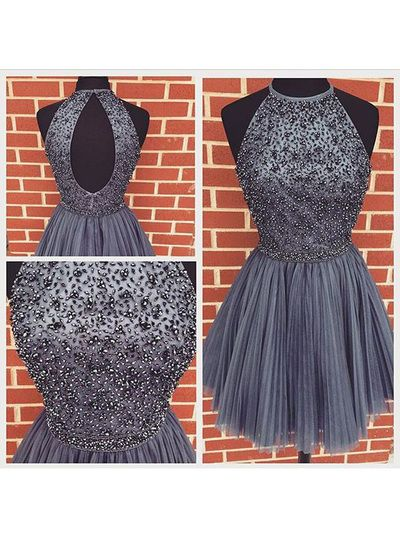 Halter Classy Homecoming Dress,Sexy Party Dress,Charming Homecoming…