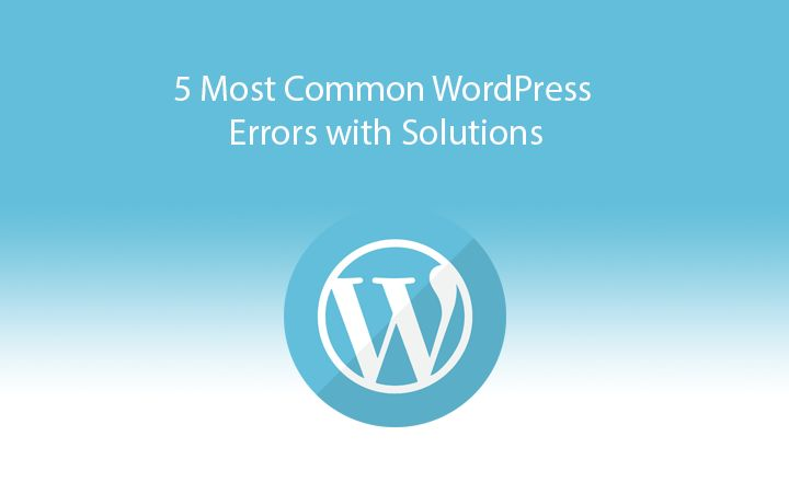 5 Common WordPress Errors and How to Solve Them