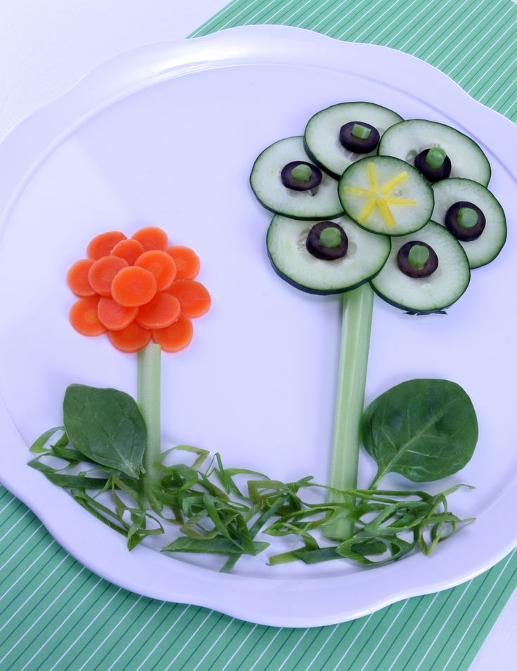 food craft for kids using vegetable | Edible Food Art For Kids