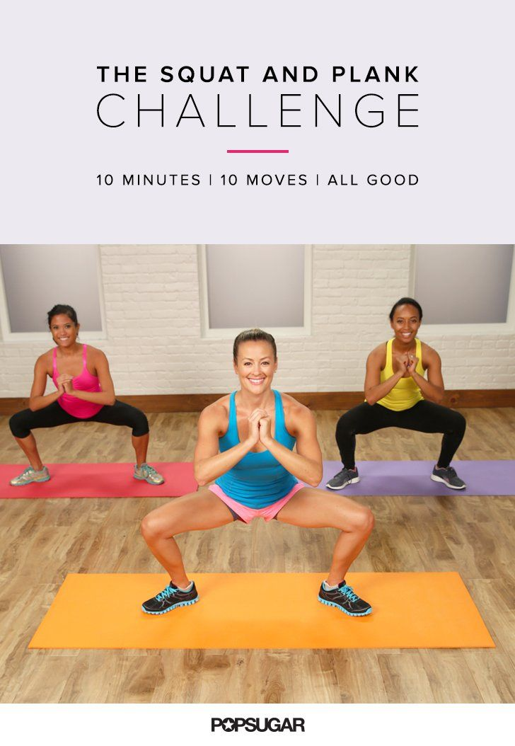 The Ultimate Bodyweight Workout Featuring Just Squats and Planks