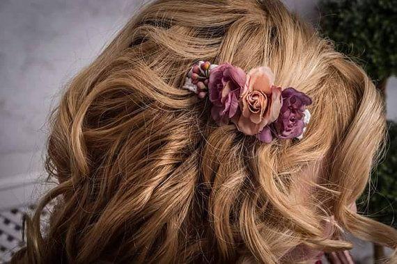 Flower Hair Clip Flower Headpiece Wedding от Designedecoration