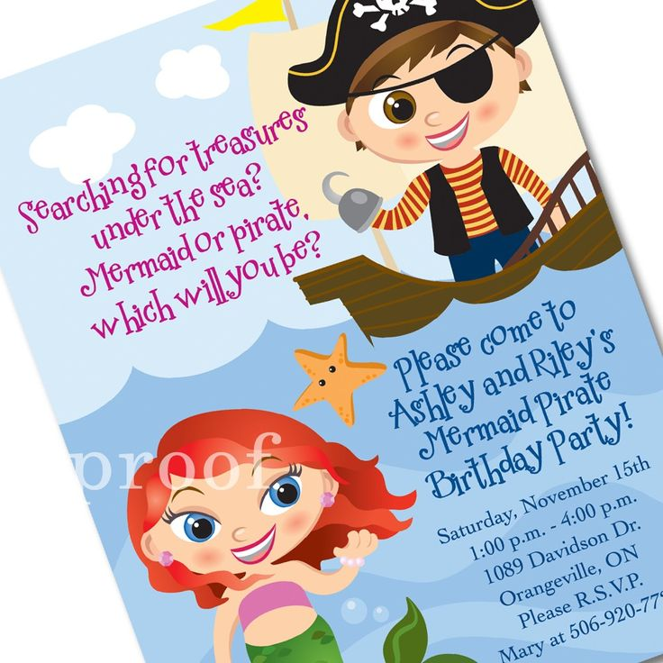 24 best Pirate Sweet 16 images – Kids Pirate Party Invitations