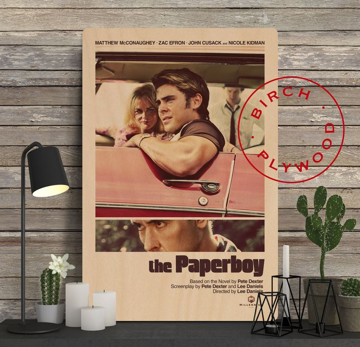 THE PAPERBOY - Poster on Wood, Matthew McConaughey, Nicole Kidman, John Cusack, Print on Wood, Christmas Gift, Gift for Her, Wall Decor by InHousePrinting on Etsy