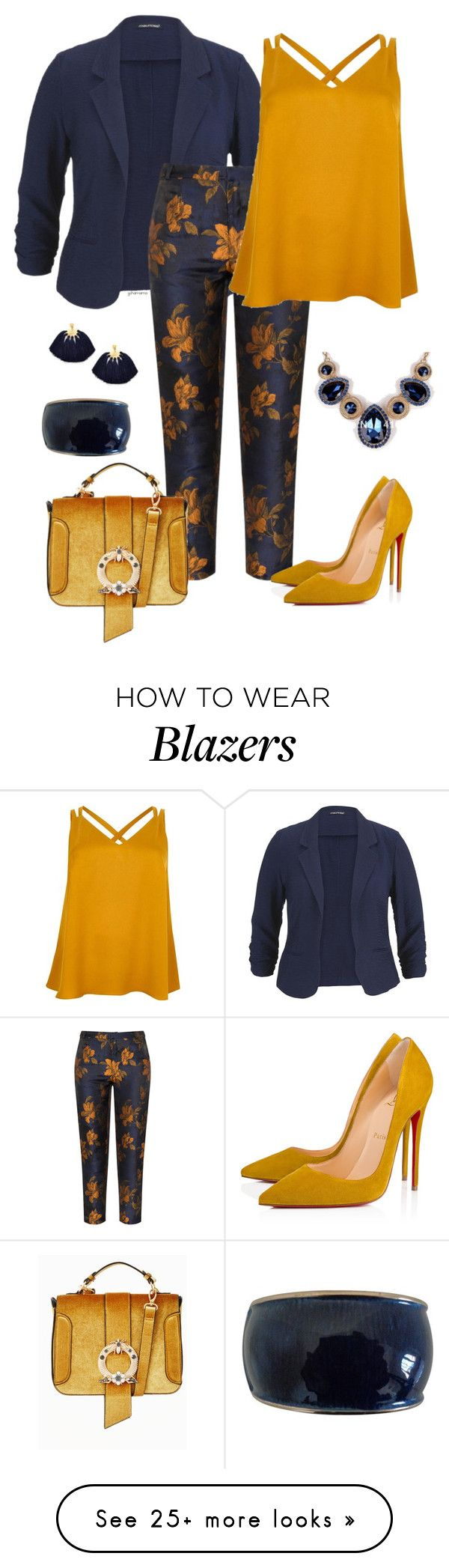 """""""Working for the $$- plus size"""" by gchamama on Polyvore featuring maurices, Manon Baptiste, River Island and Christian Louboutin"""