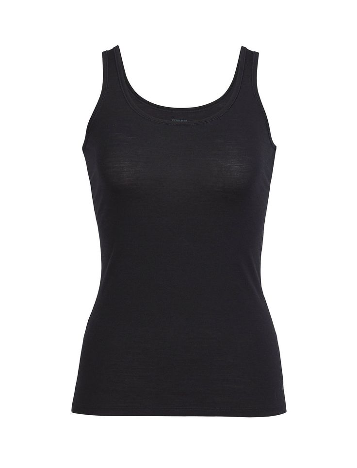 The soft and stretchy Siren Tank is a sleek, stylish and versatile layering piece for any day of the year. Our corespun fabric features soft merino wool fibers wrapped around a nylon core for added strength and durability, while retaining next-to-skin softness. The Siren Tank's scoop neck and slim, flattering fit offer feminine style. Layer this tank over the Siren Bra and under any midlayer for enhanced breathability and comfort.