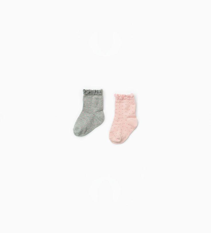 ZARA - COLLECTIE AW15 - Kanten sokken met stippen 2-pak