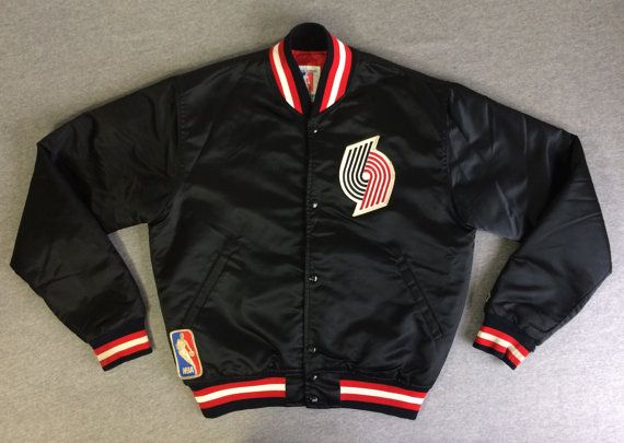 Nba Players Iphone Wallpaper Vintage Blazers Starter Jacket 80 S Satin Rip City
