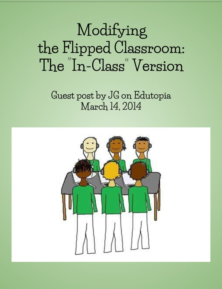 "Modifying the Flipped Classroom: The ""In-Class"" Version - Guest blogger Jennifer Gonzalez proposes the In-Class Flip, a modified version of the flipped-learning model that incorporates the video lecture element as one of several stations that students visit during their class period. 3/14/14"