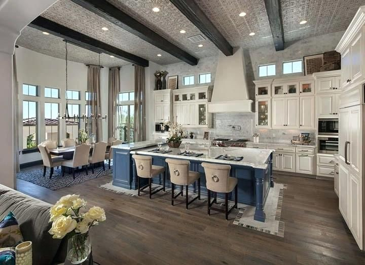 Living Room Floor Plan Open Kitchen Dining And Farmhouse De Open Concept Kitchen Living Room Dream House Ideas Kitchens Open Concept Kitchen Living Room Layout