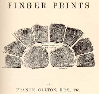 Image result for galton 1892  Finger Printsmonograph