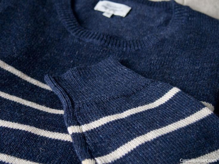 Navy striped cotton sweater by hartford