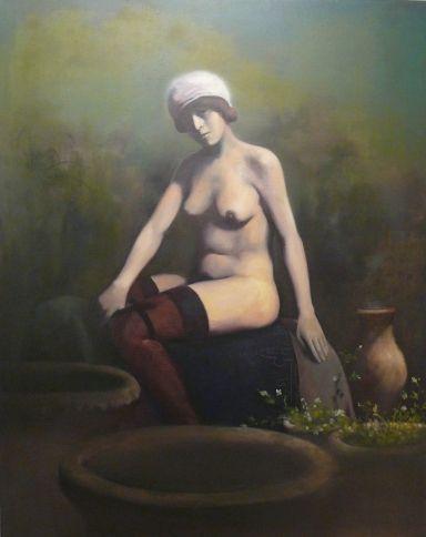 "Herman Levente:""1900"" - 2009 - olaj, vászon / oil on canvas - 100x80 cm"