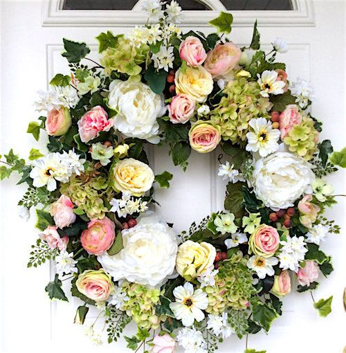 Wedding Decorations How To Make A Floral Wreath