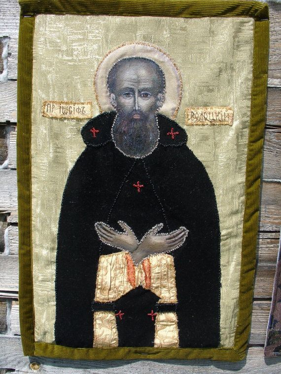 Orthodox ICON St. Iosif Volocki  by KingSizeQuiltsQueen on Etsy