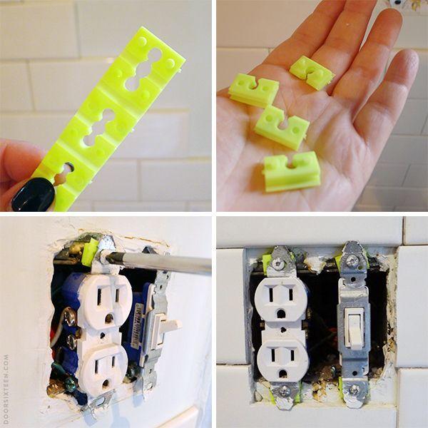Extending outlets to accommodate tile backsplash