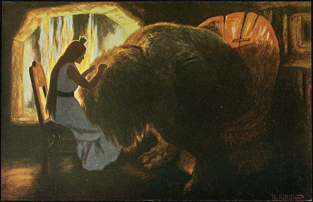 Th. Kittelsen: Prinsessen lysker trollet, 1900 | Flickr - Photo Sharing!