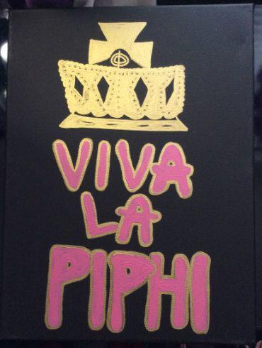 pi phi canvas, viva la pi phi