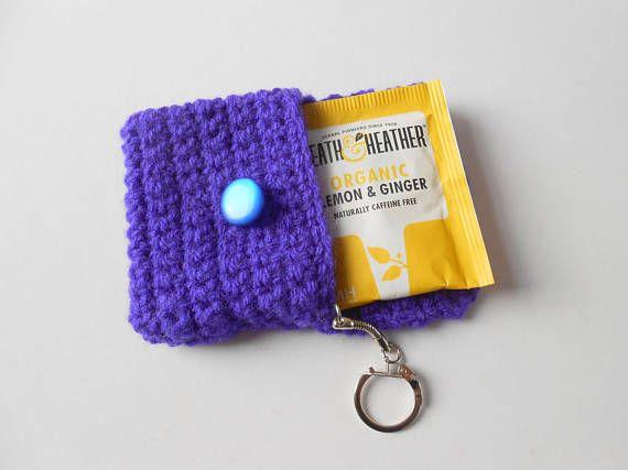 Tea Bag Wallet. Tea Wallet. Tea Bag Holder. Tea Lover Gift.