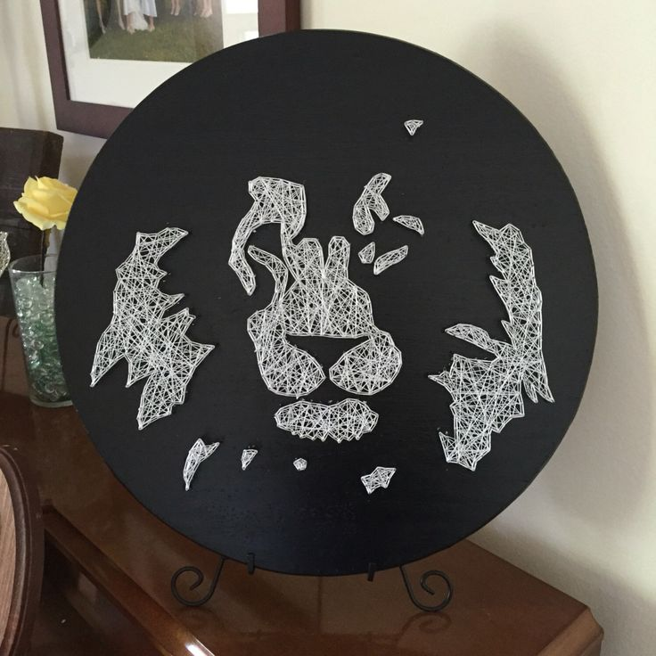 Made to Order Lion Silhouette String Art