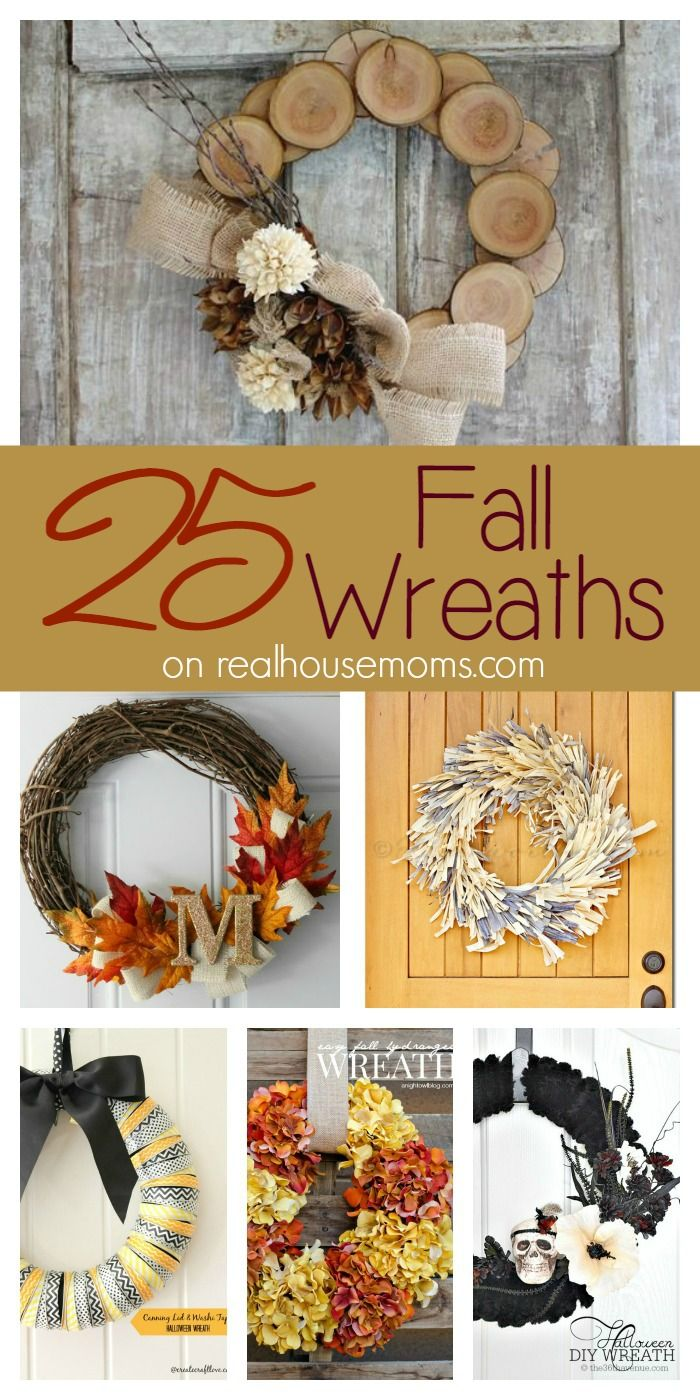25 Fall Wreaths on Real Housemoms