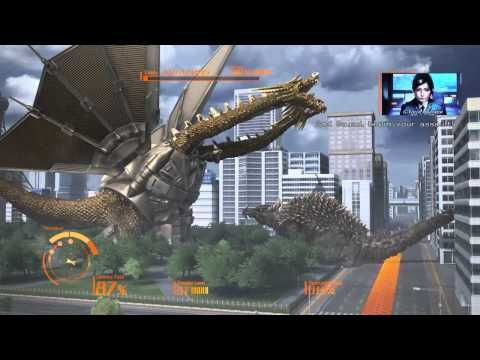 GODZILLA Ps4: Mecha King Ghidorah defend mode walkthrough part 1 - YouTube