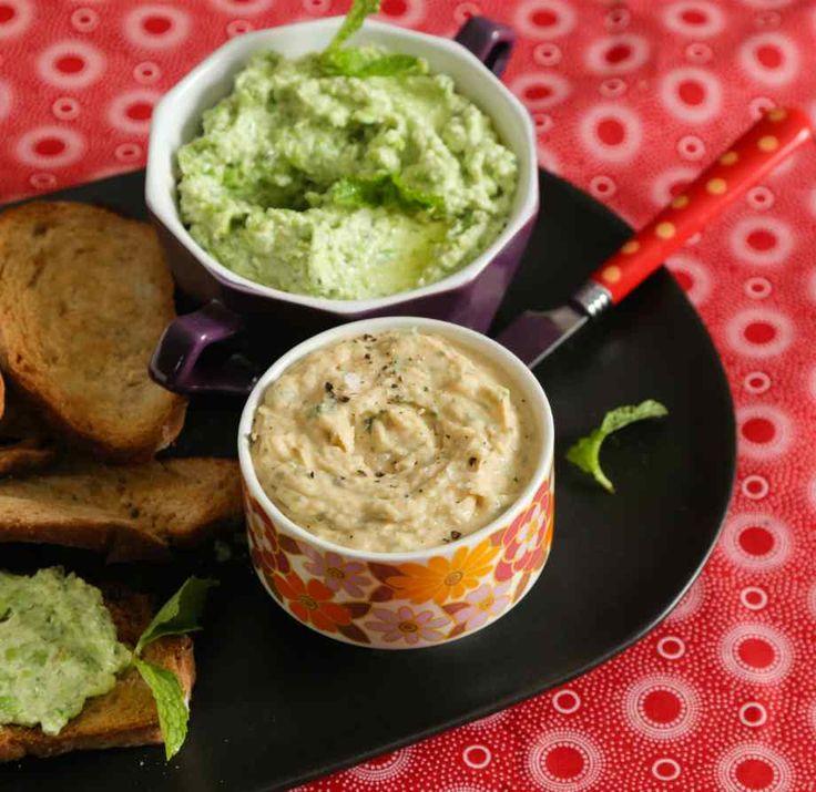 Recipe Green Pea Feta and Basil Dip