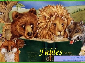 Teach 3rd-5th graders about the fictional genre of fables. This presentation contains definition, characteristics, tips, and examples with answers. Aesop's Fables are a fun and great way to learn how to determine the moral of a selection!  I recently updated this to reflect and include the common CORE standards.
