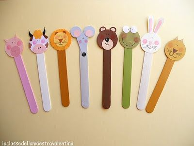 how to make book mark with ice cream sticks - Google Search