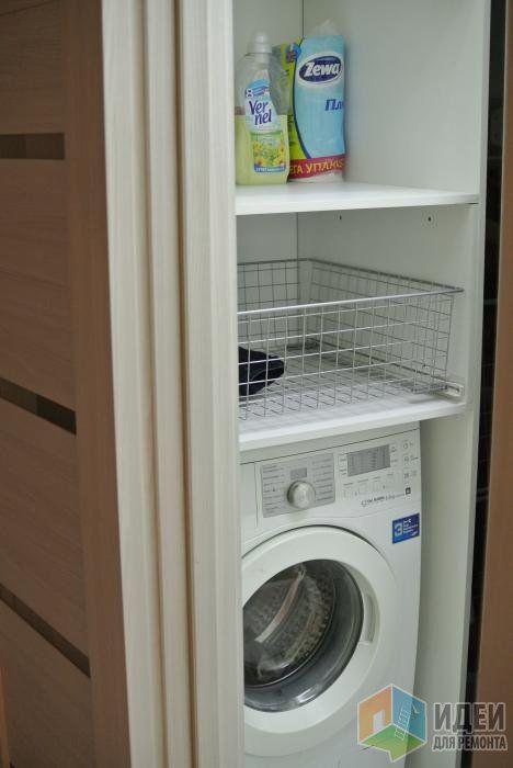 Стеновой шкафчик в санузле, стиральная машина в санузле, стиральная машина в шкафу