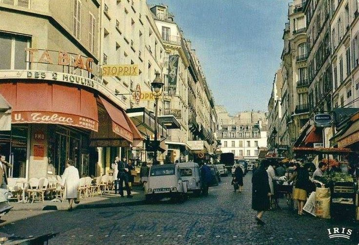 La rue Lepic en 1970...reépinglé par Maurie Daboux ❥•*`*•❥
