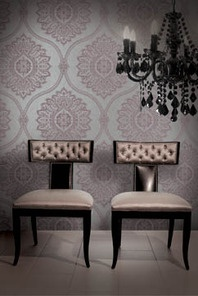 Crown Wallpaper + Fabrics | Toronto Love the colour and pattern