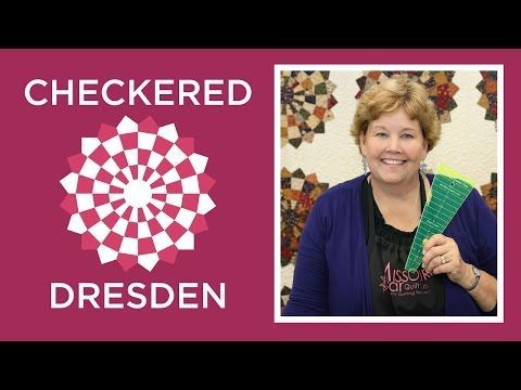 Now this Lady Jenny Doan from Missouri Quilt has got it together on this Checkered Dresden, I just gotta do this one. NOTE: On the TOP of my list♥♥